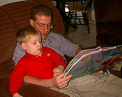 Reading to Zachary
