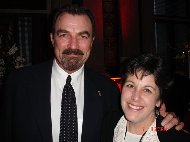 Andrea Patten pic with Tom Selleck