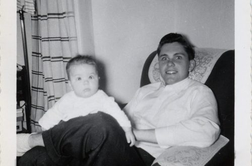 Dad and me in college