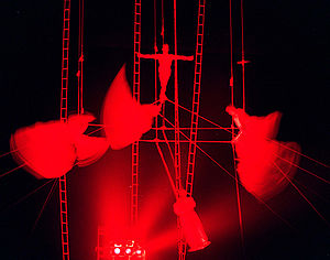 "The ""Chimes"" aerial act that feature..."