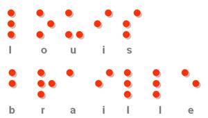 """""""Louis Braille"""" in braille"""