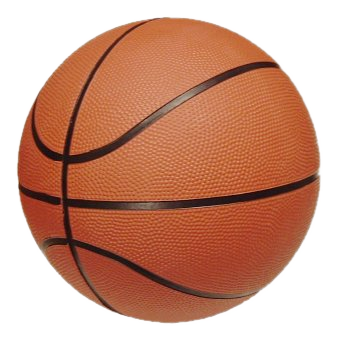 English: A typical cheap basketball with a rub...