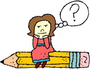 thinking on pencil cartoon