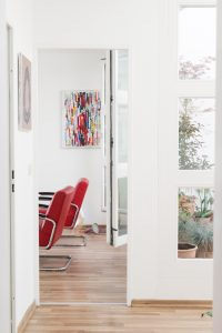 white wooden frame and doors